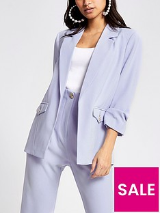 ri-petite-ruched-sleeve-blazer-light-blue