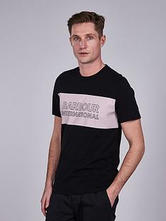 barbour-international-panel-logo-t-shirt-black