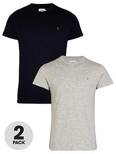 farah-t-shirt-2-packnbspnbsp--greynavynbsp