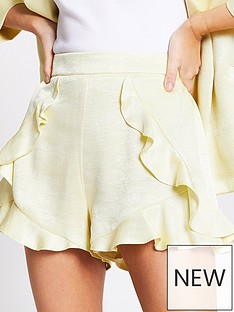 ri-petite-frill-smart-short-yellow