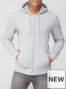 farah-melange-zip-through-hoodie