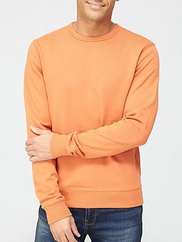 farah-crew-neck-sweatshirt-orange