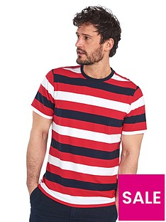 barbour-duridge-stripe-t-shirt-red