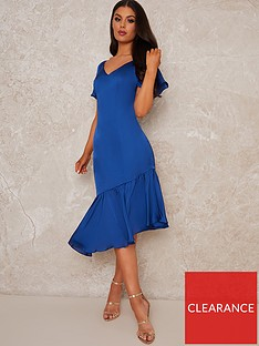 chi-chi-london-stretch-satin-asymmetric-hem-dress-cobalt