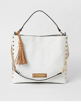 river-island-embossed-stud-side-slouch-bag-white