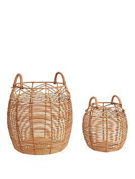 set-of-2-round-rattan-baskets