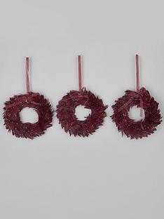mini-wreath-purple-feather-christmas-tree-decorations-set-of-3