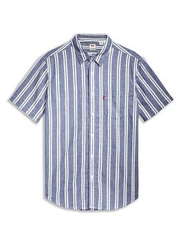 levis-vertical-stripe-shirt-blue