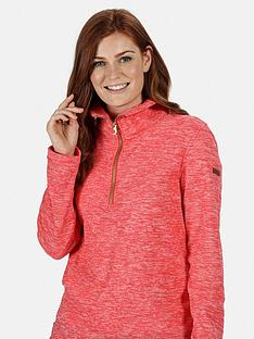 regatta-fidelia-quarter-zip-marl-fleece-red