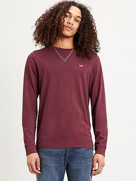 levis-original-housemark-long-sleevenbspt-shirt-rednbsp