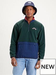 levis-levis-quarter-zip-polar-fleece-sweatshirt