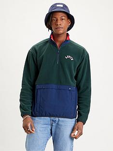 levis-quarter-zip-polar-fleece-sweatshirt-multi