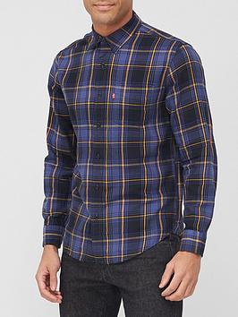 levis-sunset-1-pocket-checked-shirt-blue