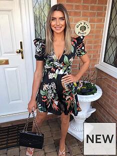 ax-paris-black-wrap-front-tropical-dress