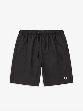 fred-perry-textured-swimshort-black