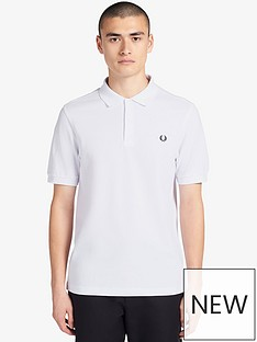fred-perry-plain-polo-shirt-white