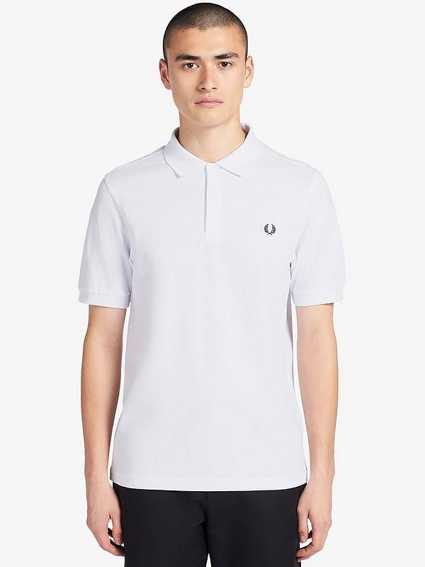 ännu en gång parallell historisk  Fred Perry Plain Polo Shirt - White | very.co.uk