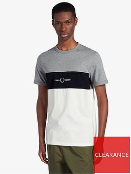 fred-perry-graphic-embroidered-t-shirt-grey-marl
