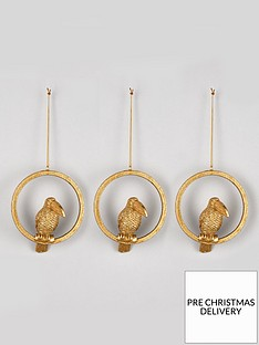 gisela-graham-set-of-3-toucan-tree-christmas-treenbspdecorations