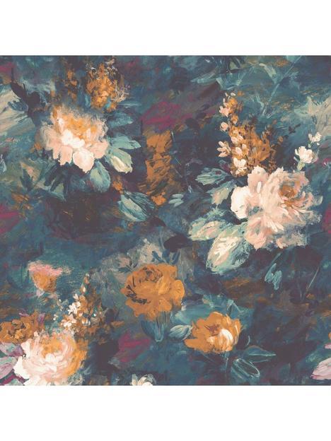 woodchip-magnolia-ava-marika-teal-wallpaper