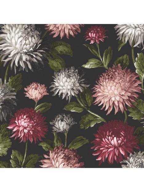 woodchip-magnolia-october-bloom-charcoal-wallpaper