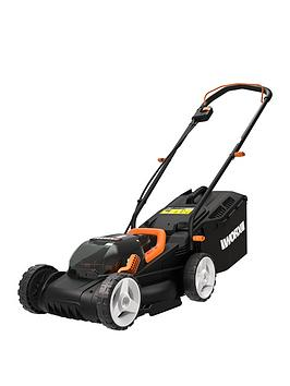 Worx Cordless 34Cm Dual Battery Lawn Mower Wg779E.2