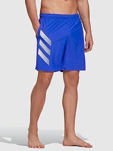 adidas-3-stripe-swim-shortsnbsp--blue