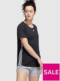 adidas-3-stripe-tee-black
