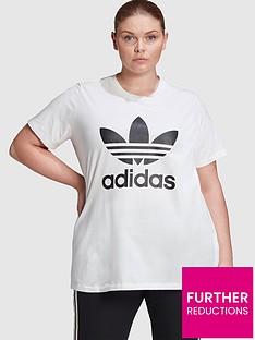 adidas-originals-trefoil-t-shirt-plus-size-white