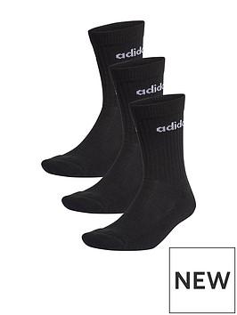 adidas-cushion-crew-3-pack-black