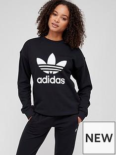 adidas-originals-trefoil-crew-sweat-black