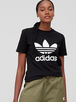adidas-originals-trefoil-tee-black