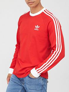 adidas-originals-3-stripe-long-sleeve-t-shirt-red