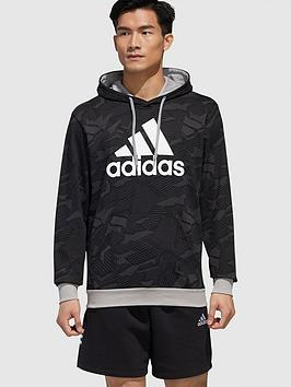 adidas-essential-all-over-printnbsphoodie-black