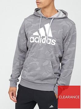 adidas-essential-all-over-printnbsphoodie-greynbsp