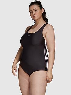 adidas-fit-swimsuit-3-stripes-plus-size-black