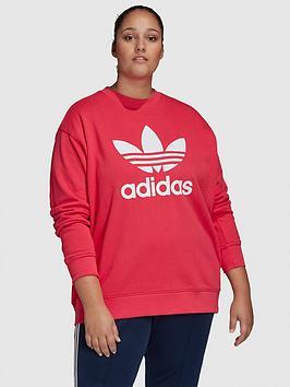 adidas-originals-trefoil-crew-sweat-plus-pink