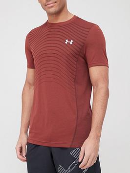 under-armour-seamless-wave-t-shirt-burgundy