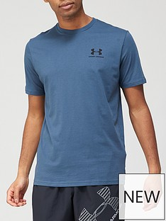 under-armour-sportstyle-left-chest-logo-t-shirt-blueblack