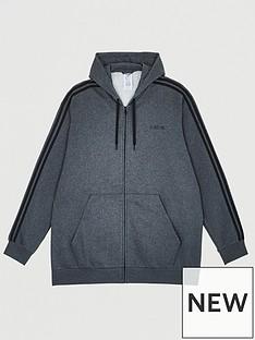 adidas-plusnbspsize-essential-3-stripe-full-zip-hoodie-grey