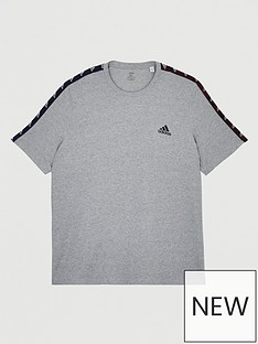 adidas-plus-size-essential-tape-t-shirt-grey