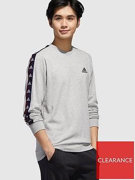 adidas-essential-tape-crew-sweatshirt-greynbsp