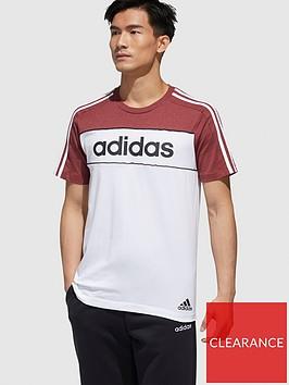 adidas-adidas-essential-block-t-shirt-redwhite