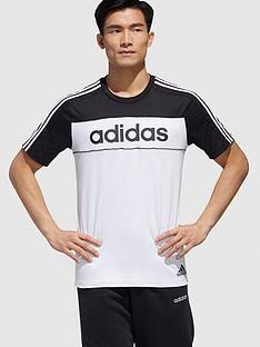 adidas-essential-block-t-shirt-blackwhitenbsp