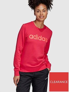 adidas-essentials-linear-crew-sweatshirt-pinknbsp