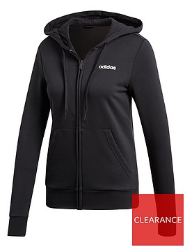 adidas-essentials-plain-full-zip-hoodie-black