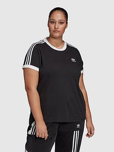 adidas-originals-3-stripe-tee-plus-black