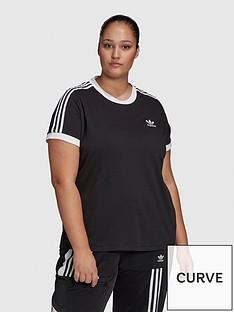 adidas-originals-3-stripe-tee-plus-black