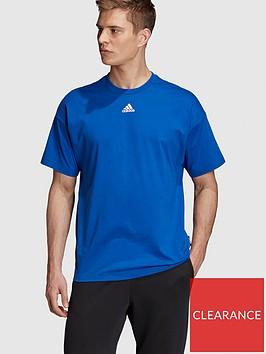 adidas-3-stripe-t-shirt-bluenbsp
