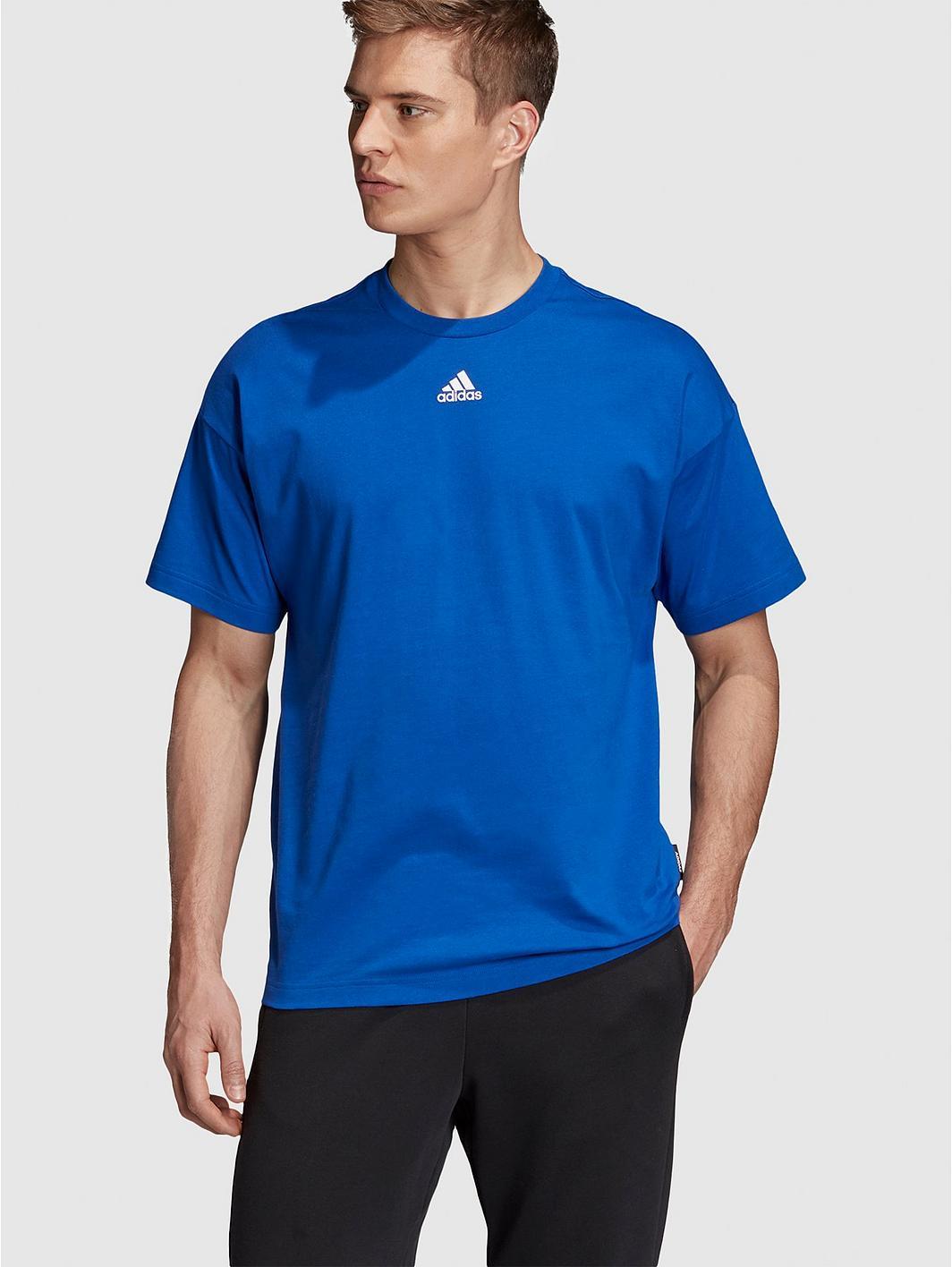 adidas 3 Stripe T-Shirt - Blue q1rUSA